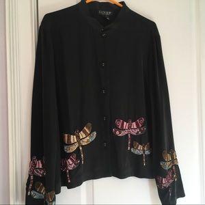 Black silk Citron jacket